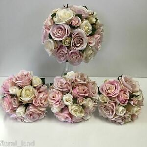 Silk wedding bouquet lilac dusty pink rose roses posy bouquets fake image is loading silk wedding bouquet lilac dusty pink rose roses mightylinksfo