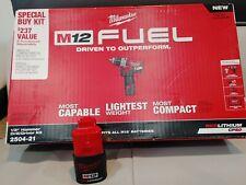 Milwaukee 2504 21 M12 Fuek 12in Hammer Drill Kit 12v2ah With Battery Bag