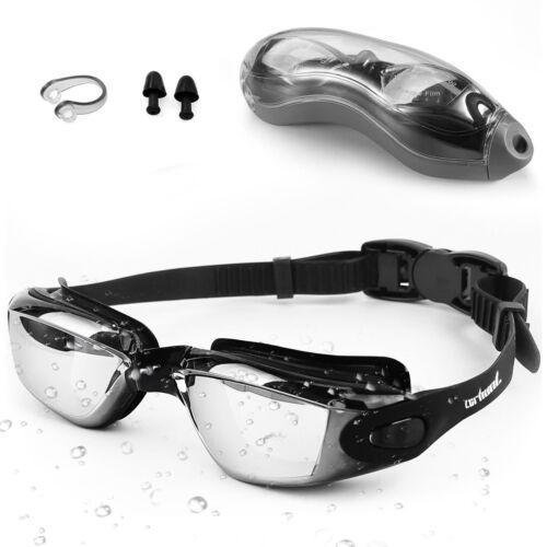 Swimming Goggles Adult Children Mens Zerhunt Black Mirror Swim Goggles Anti