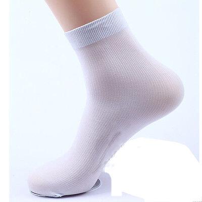 New 2Pairs Summer Mens Bamboo Fiber Ultra-Thin Breathable Socks