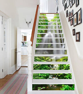 Image Is Loading Falls Plants 038 Stair Risers Decoration Photo
