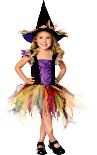 882137 GLITTER Bambini Strega Cappello Tutu Ragazze FANCY DRESS SPOOKY età 3-10
