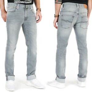 Nudie-Herren-Slim-Skinny-Fit-Organic-Stretch-Jeans-Hose-Thin-Finn-Pale-Lead