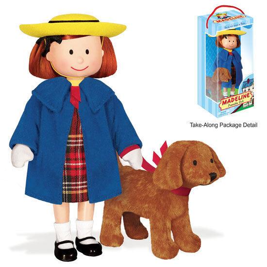 "Madeline Books Doll Baby 8"" Madeline Doll w/ 4"" Stuffed Animal Genevieve Dog"