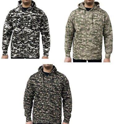 Game Mens Digital Camouflage Hoodie Army Hunting Shooting Camo Hooded Top