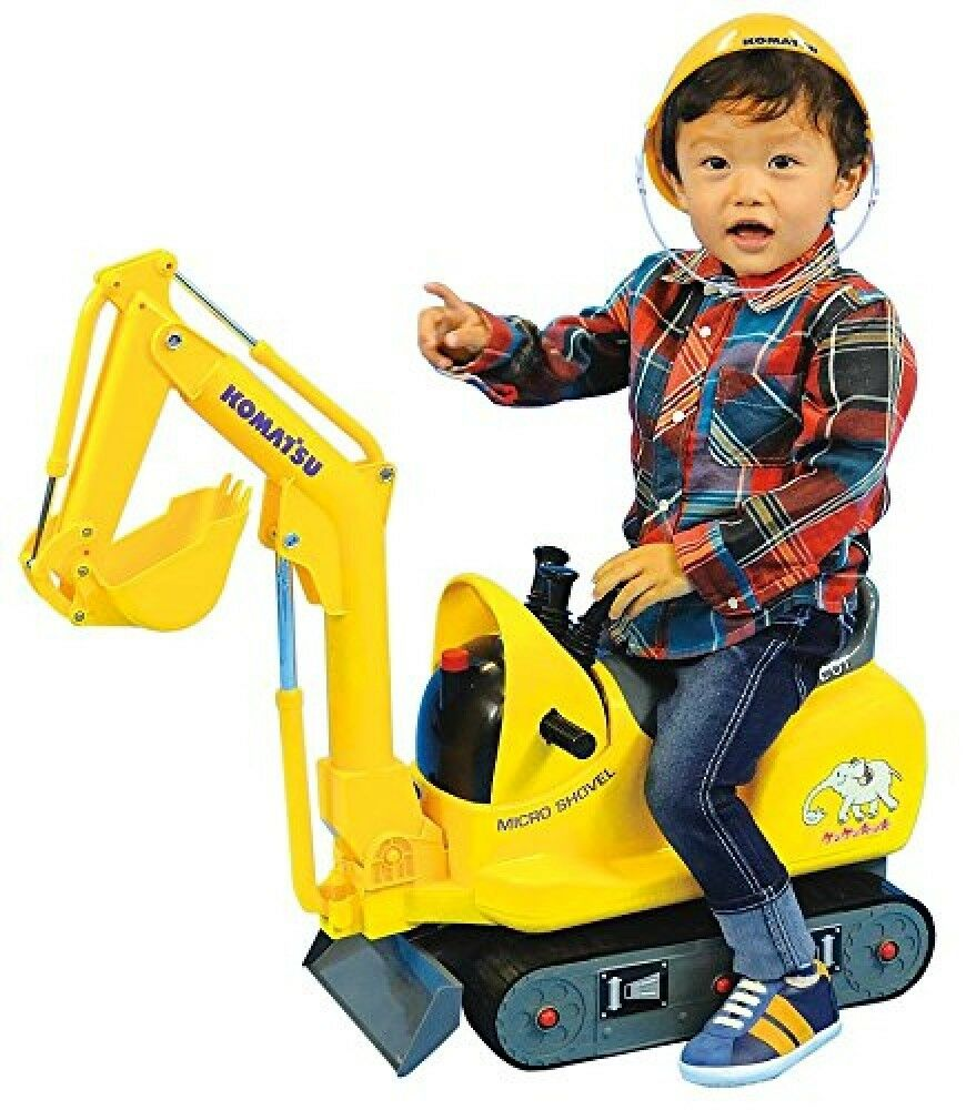 KOMATSU Micro shovel for kids Riding toy with Helmet PC01 Japan