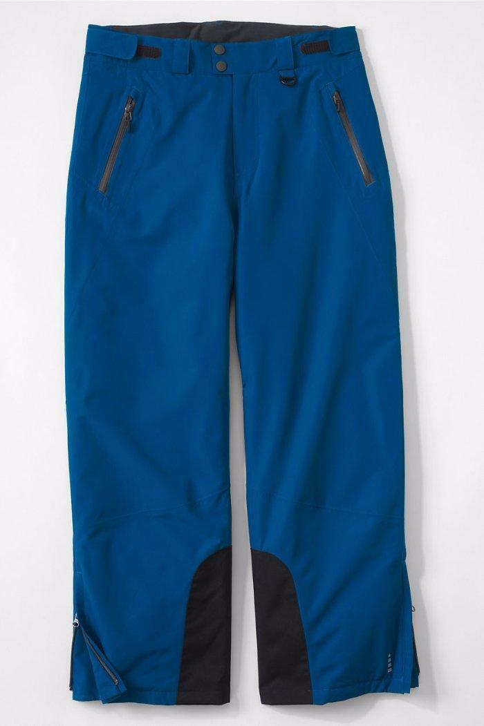 LANDS' END Men's XL Dark Bay bluee Primaloft Snow Pants NWT