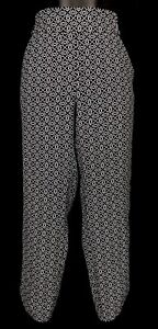 JACQUI-E-Black-White-Geo-Print-Pockets-Pull-On-Tapered-Cropped-Pants-Size-8