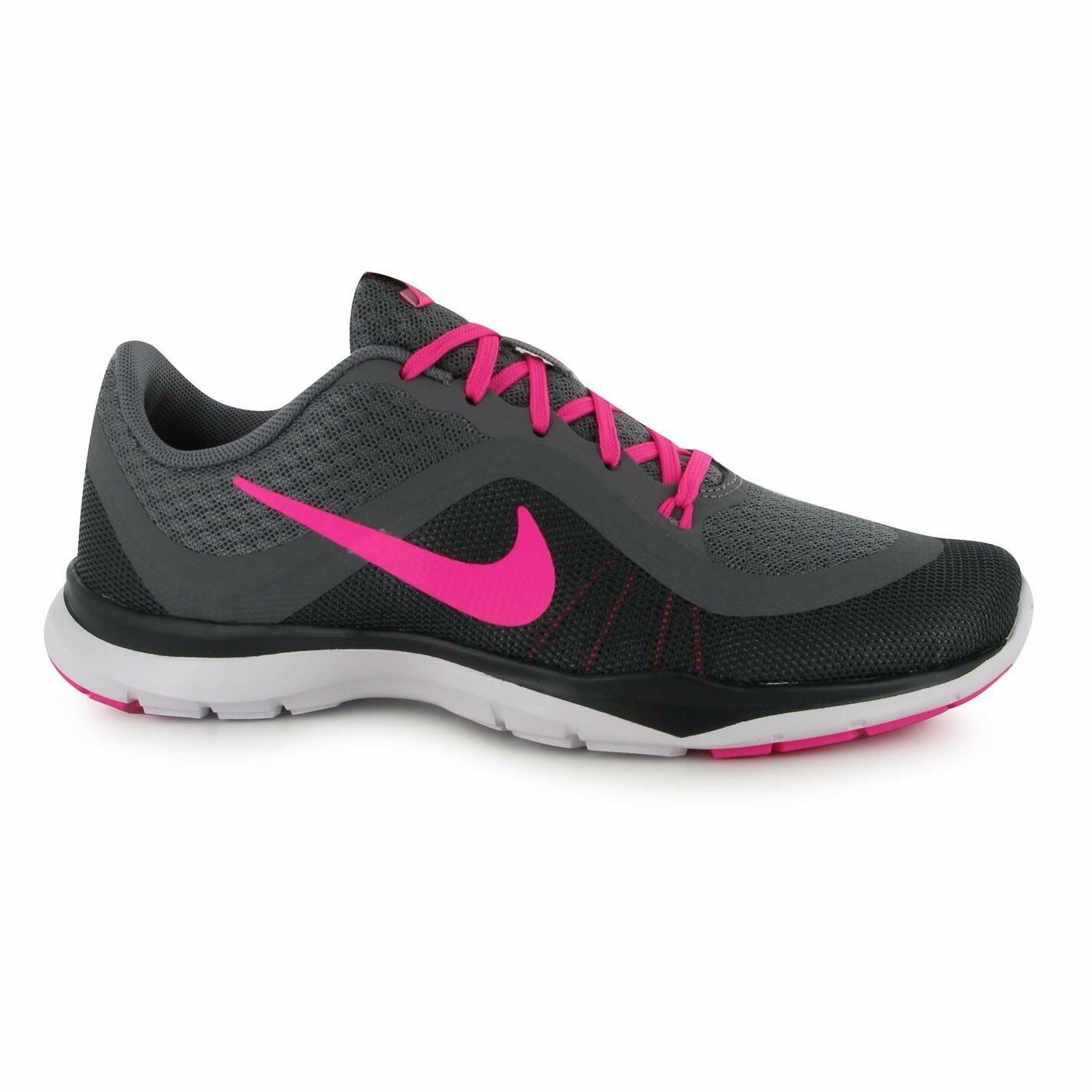 Mujer Nike Flex Trainer / 6 Gris / Rosa / Trainer Negro Rare Limited Edition Wild Casual Shoes 93eb72