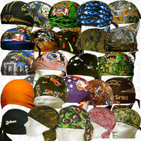 Sweat Bandana Cotton Head Do Lot Doo Rag Du Skull Biker Cap Hat Paisley Wear Men