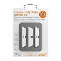 Slice 10528 Large Box Cutter Replacement Blade Ceramic Pointed Tip (pack Of 3)