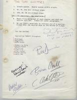 RARE autographs BBC SIGNED 1985 VERSION TWO DOCTOR DR WHO