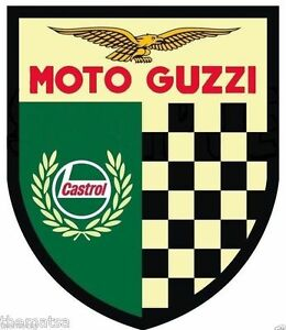 MOTO-GUZZI-SHIELD-CASTROL-ITALIAN-MOTORCYCLE-BUMPER-STICKER-DECAL-MADE-IN-USA