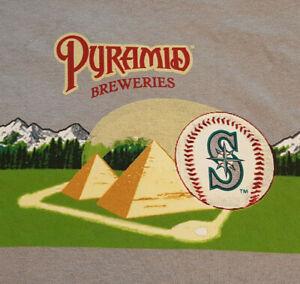 Seattle-Mariners-T-Shirt-Large-Pyramid-Breweries-NWOT-NEW-Baseball-MLB-INV245