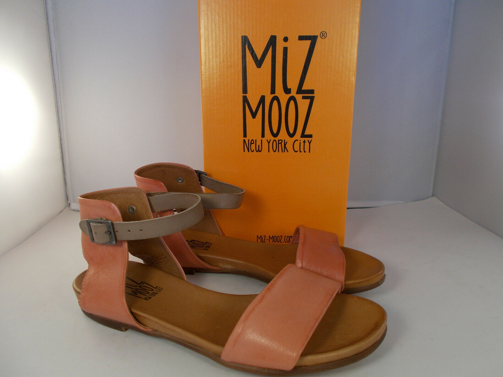 Miz Mooz NYC Alanis Leather Sandals Coral Women's Size 10 US New In Box