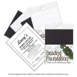 "Beadsmith or Lacy's Stiff Stuff Beading Foundation - 4.25x5.5"" or 8.5x11"""