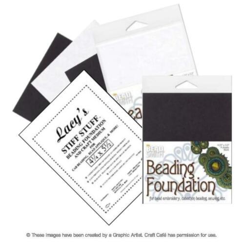 "Beadsmith or Lacy/'s Stiff Stuff Beading Foundation 4.25x5.5/"" or 8.5x11/"""