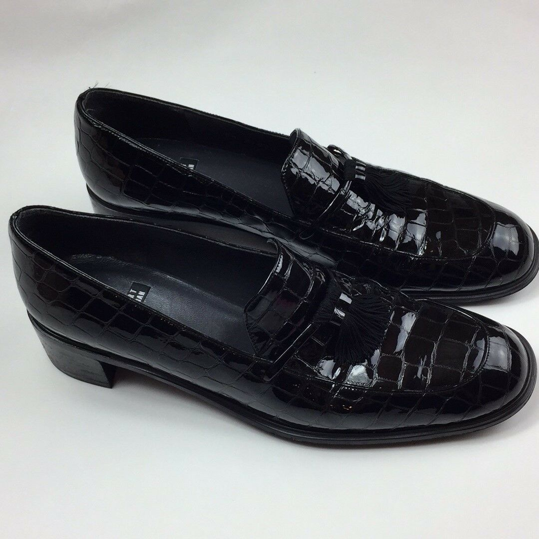 Stuart Weitzman Black Leather Shoes Size 8W