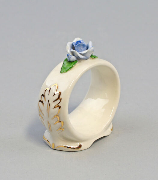 Marca Popular 9959382 Porcelana 1 Anilla Servilletas Claro Rose Oro Ens / Ernstbohne 6x2,5x6cm