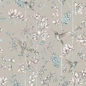 Floral-Breloque-Colibri-Papier-Peint-or-Doux-holden-12394
