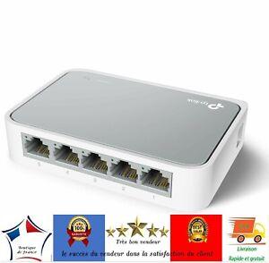 Switch-Ethernet-Reseau-5-ports-10-100-Mbps-RJ45-Repartiteur-Commutateur-Hub