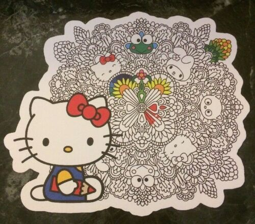 NYCC Hello Kitty Promo Coloring Book Card Lot New York Comic Con 2017 3