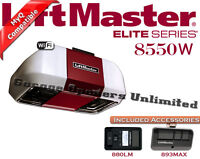 Liftmaster 8550w Elite Dc Battery Back-up Belt Drive Garage Door Opener Wi-fi