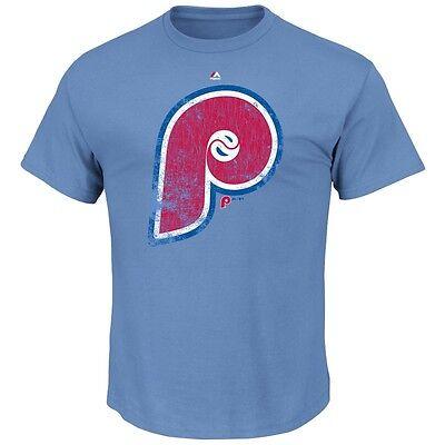 Freundschaftlich Mlb Baseball Philadelphia Phillies League Supreme Cooperstown T-shirt Majestic Baseball & Softball Fanartikel