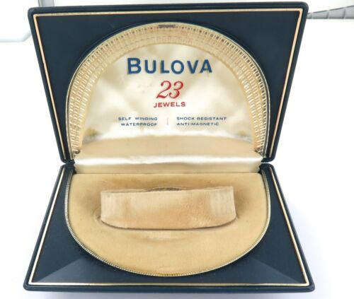 SUPERB VINTAGE GREAT CONDITION BULOVA 23J MENS SELF WINDING DISPLAY BOX.
