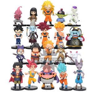 DRAGON-BALL-SUPER-20-STATUETTE-PERSONAGGI-action-figure-sayan-goku-blu-rosa-z