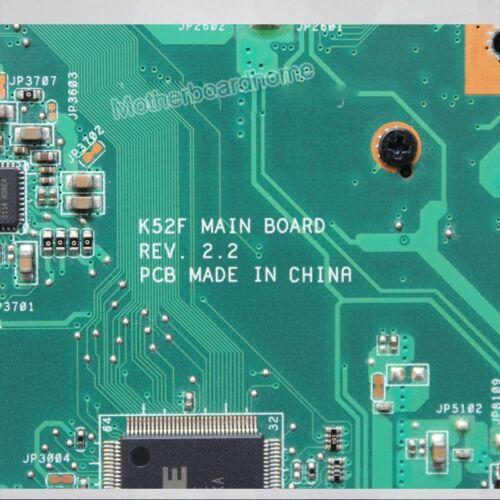 Original Laptop motherboard for ASUS K52F X52F A52F P52F HM55 PGA989 Mainboard