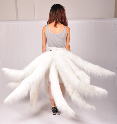LOL Fox Ahri Pink Nine-tailed Tails League of Legends Cosplay Prop Faux Fur NEW