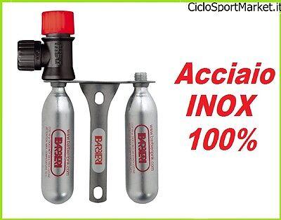 Rubinetto Erogatore Corsa 5 Bombolette Gonfiaggio Co2 aria compressa per bicicletta MTB