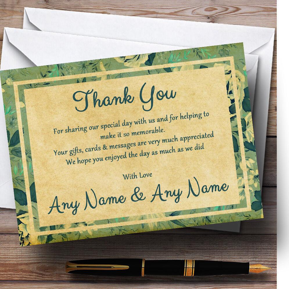 Motif floral bleu turquoise carte carte turquoise postale mariage Personnalisé Cartes RemercieHommes t 97a981