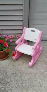 Superb Details About Vintage Little Tikes Victorian Rocking Chair Pink White Rocker Child Size Rare Beatyapartments Chair Design Images Beatyapartmentscom