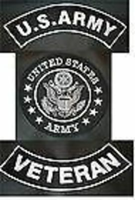 US ARMY IRAQ WAR PATCHES SET COMBAT COLORS FOR BIKER MOTORCYCLE VEST JACKET