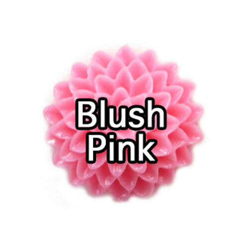 16mm DAHLIA FLOWER Rose Lucite Resin Flatback CABOCHON Embellishment DIY Craft