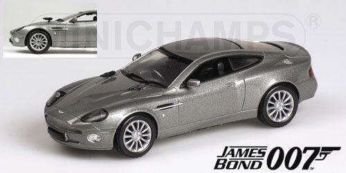 Aston martin v12 vanquish james bond 007 die another day  1 43 model minichamps  expédition rapide dans le monde entier