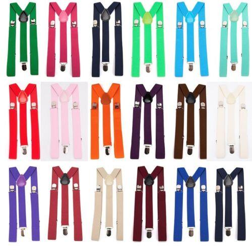 Unisex Suspenders and Bow Tie Set Adjustable Braces Elastic Y Back Men Women