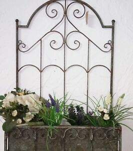 Jardiniere wandkasten korb metall blumenkasten shabby - Blumenkasten deko ...
