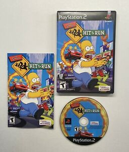 The-Simpsons-Hit-amp-Run-PlayStation-2-2003-Black-Label-COMPLETE-PS2