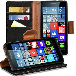 Microsoft-Lumia-640-XL-Phone-PU-Leather-Magnetic-Flip-Case-Wallet-Denim-Cover