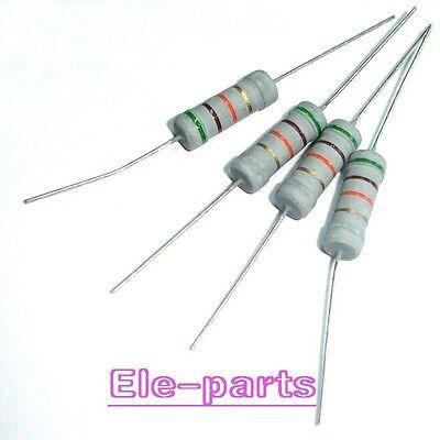 Lot of 10 Metal Oxide Resistor 5.1 Ohm 5R1 2W 2 Watts 5/%