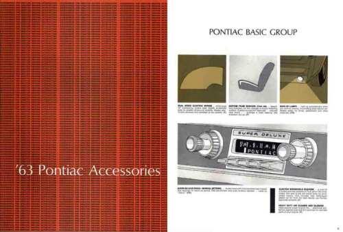 Pontiac Accessories 1963 /'63 Pontiac Accessories