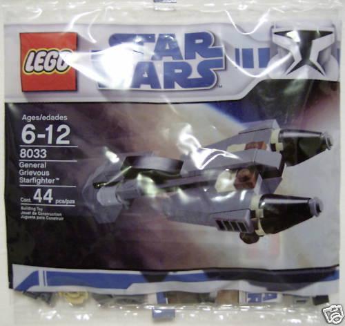 NISP LEGO Star Wars General Grievous Starfighter Polybag 8033