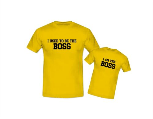 I Used To Be The Boss Father Son Daughter Adult /& Kids T Shirt/'s Father/'s Day