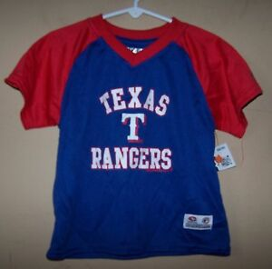timeless design d1e1a 96b9a Details about Boy's 2T 6634 Blue Red TEXAS RANGERS Baseball Jersey Shirt  MLB TRUE FAN