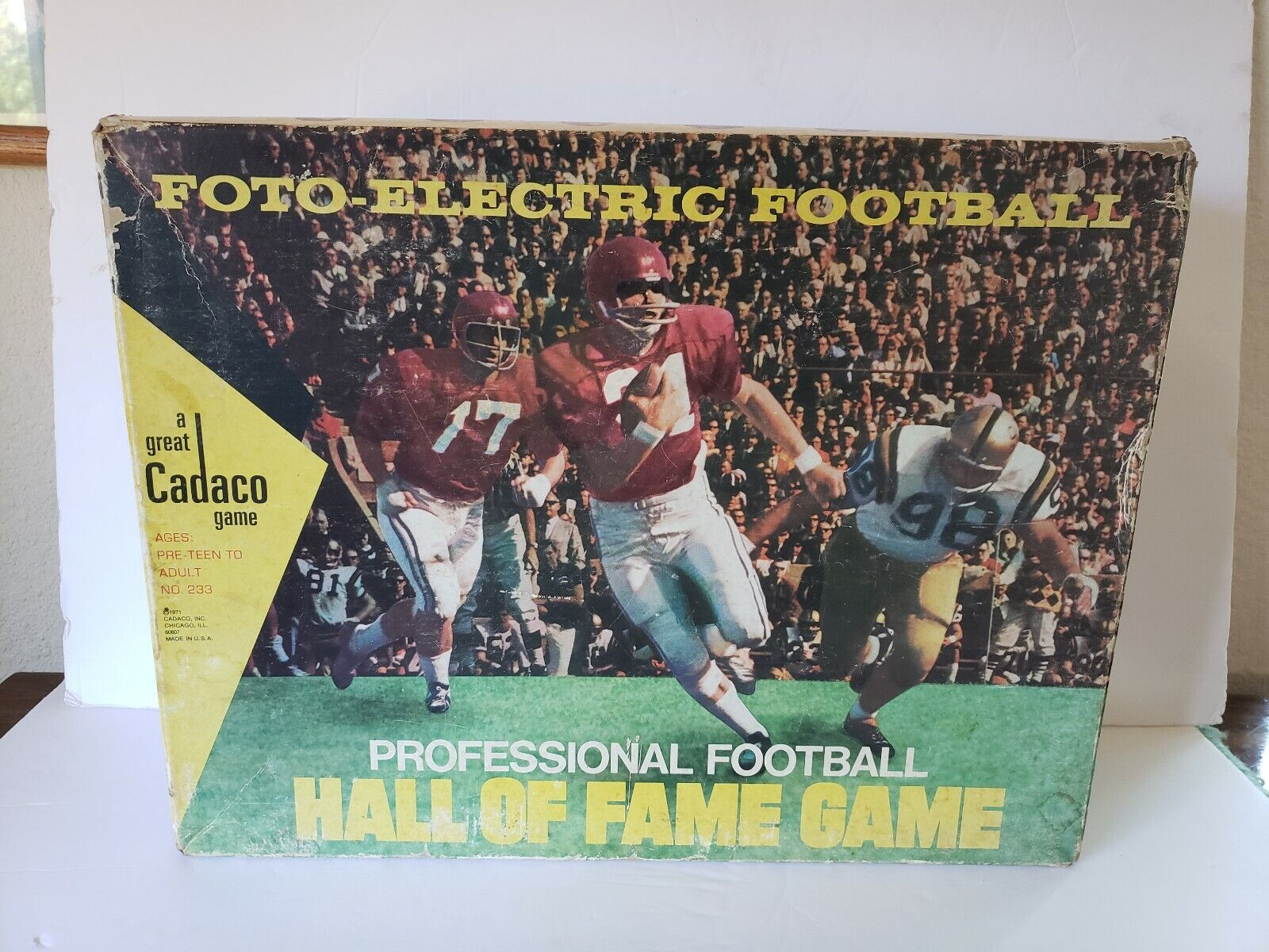 1971 Foto-Electric Professional Football Hall of Fame Game Cadaco With Rules