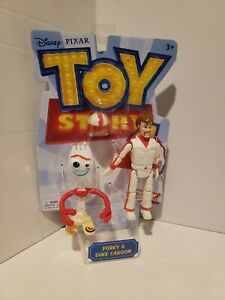 Disney Pixar Toy Story 4 FORKY /& DUKE CABOOM MOVIE ACTION FIG ARTICULATED MATTEL