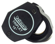 """BelOMO 15x Triplet Loupe Magnifier. 9mm (.35"""") NEW. BRAND. Jewelry Instrument"""